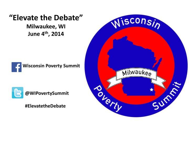 """""""Elevate the Debate"""""""