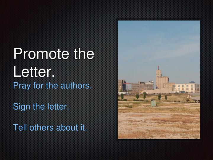 Promote the Letter.