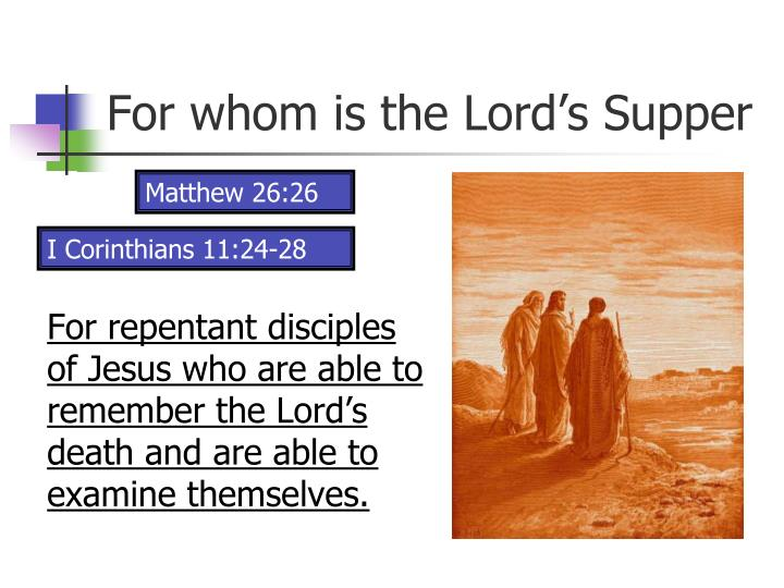 For whom is the lord s supper