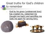 great truths for god s children to remember