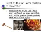 great truths for god s children to remember1
