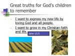 great truths for god s children to remember2
