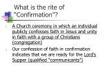 what is the rite of confirmation