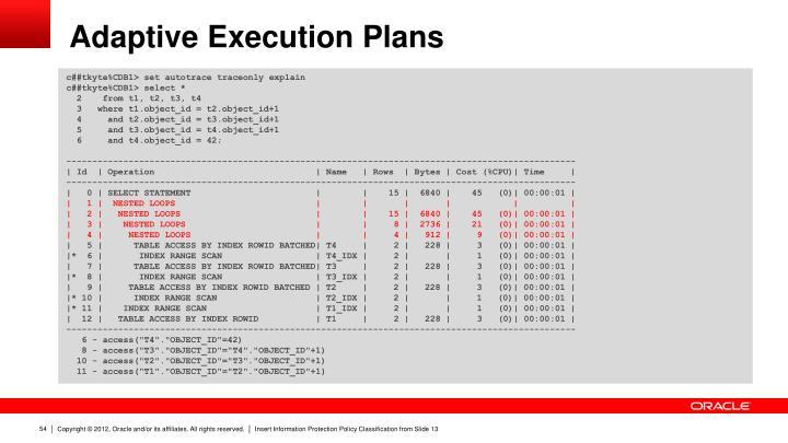 Adaptive Execution Plans