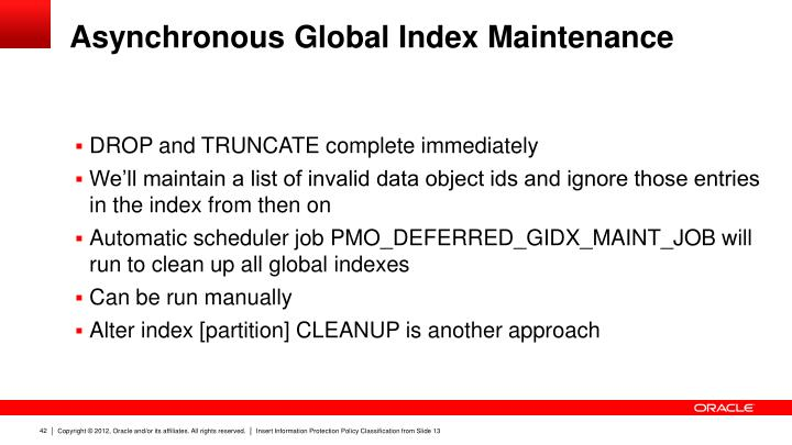 Asynchronous Global Index Maintenance