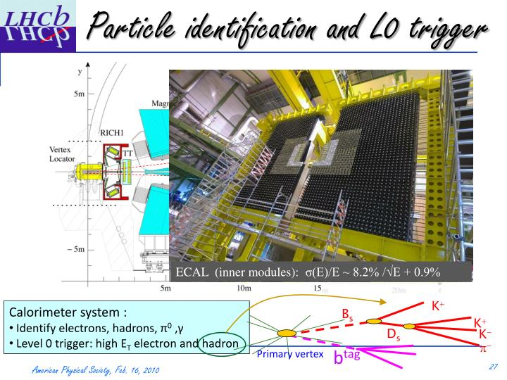 Particle identification and L0 trigger