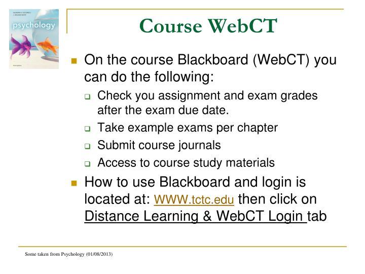 Course WebCT