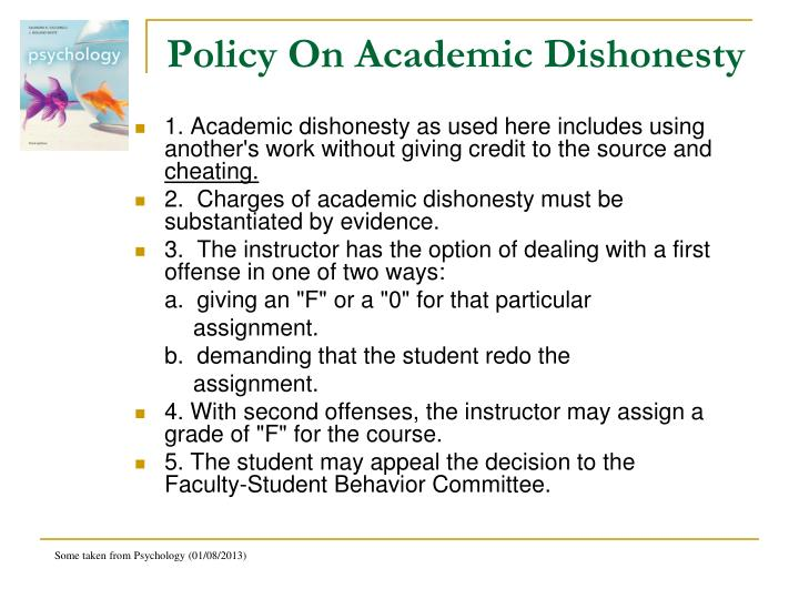 Policy On Academic Dishonesty
