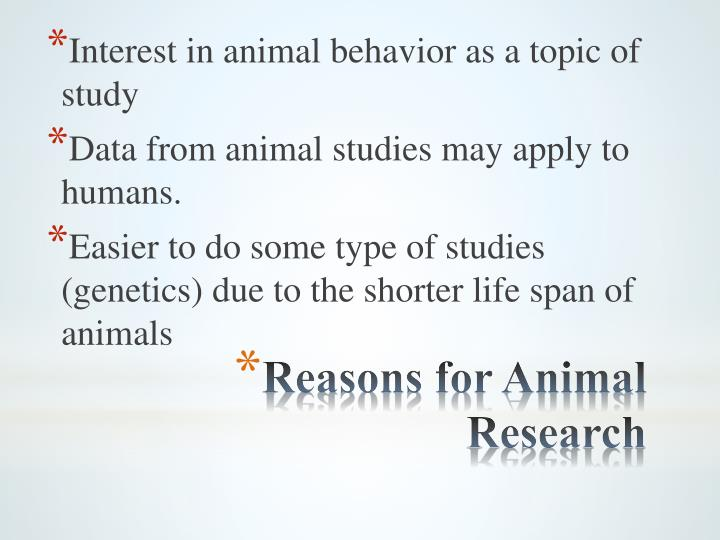 Interest in animal behavior as a topic of study