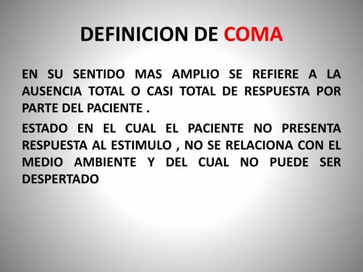 DEFINICION DE