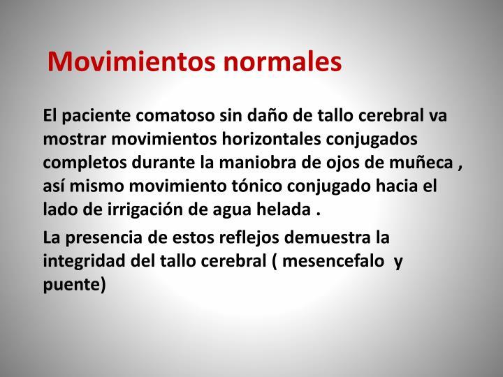 Movimientos normales