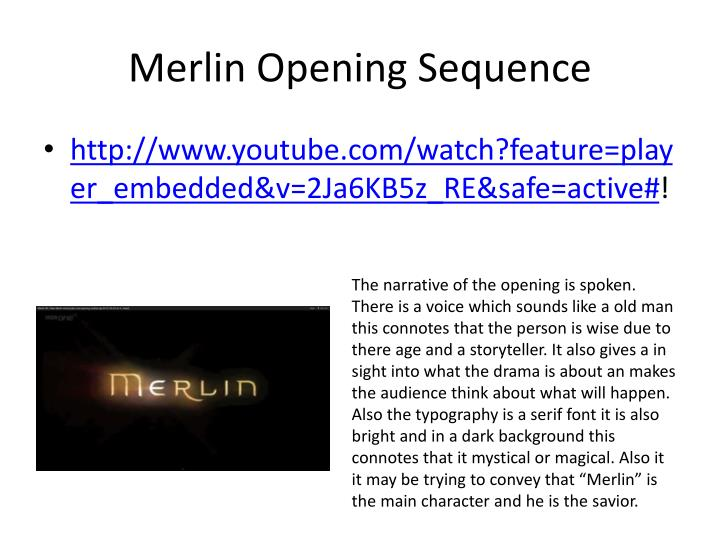 Merlin Opening Sequence