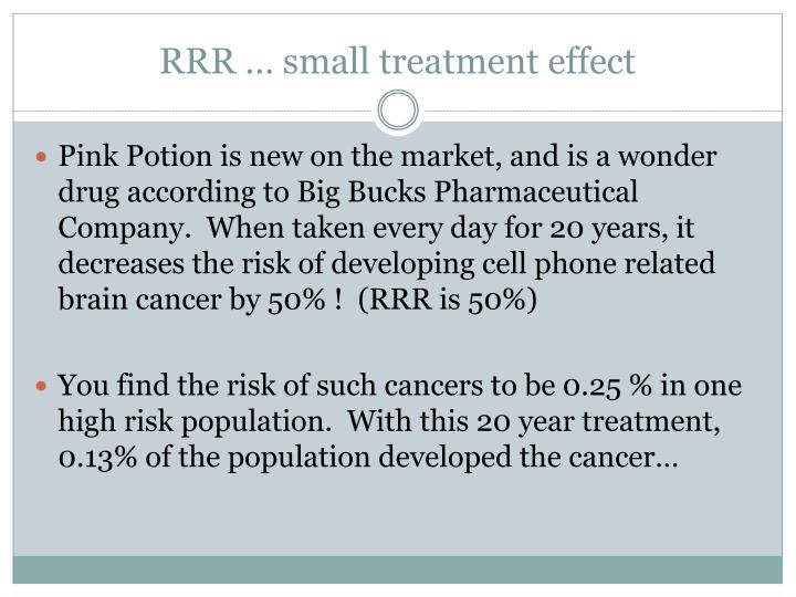 RRR … small treatment effect