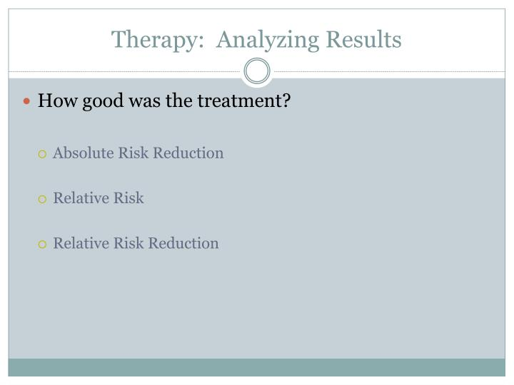 Therapy:  Analyzing Results