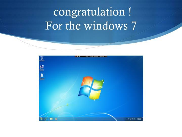 congratulation !