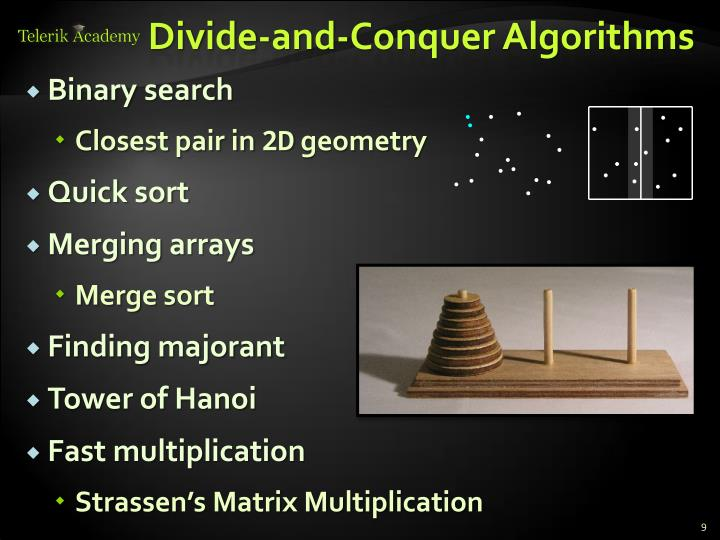 Divide-and-Conquer Algorithms