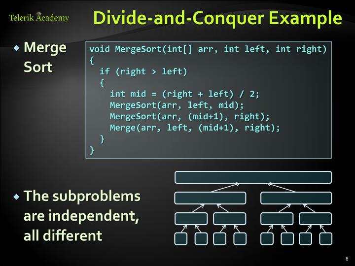Divide-and-Conquer Example