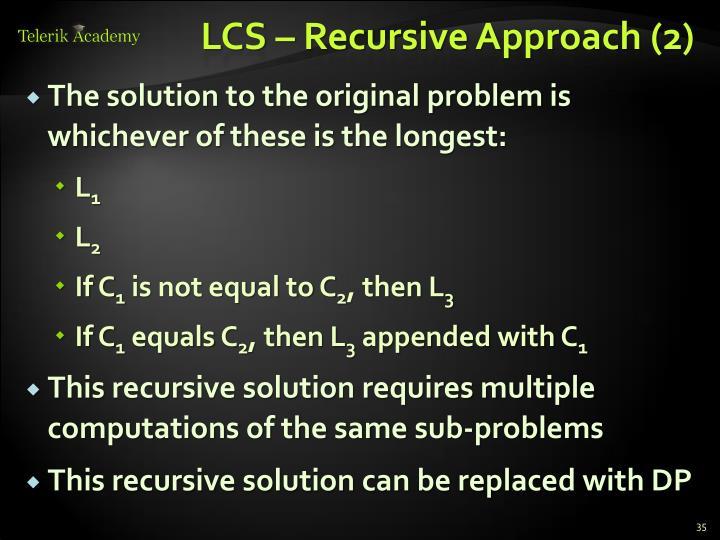 LCS – Recursive