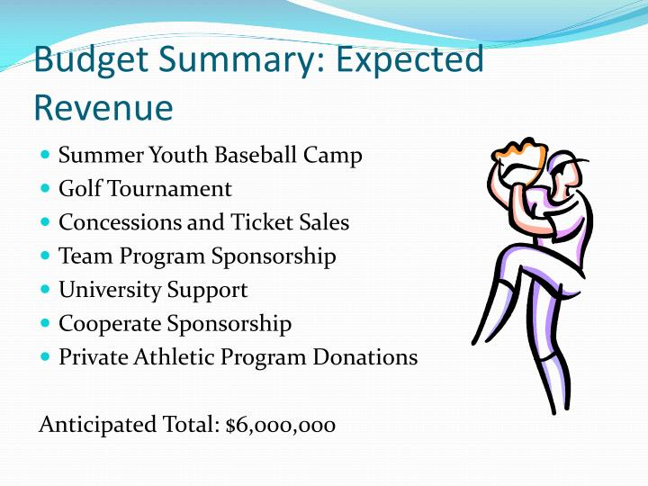 Budget Summary: Expected Revenue