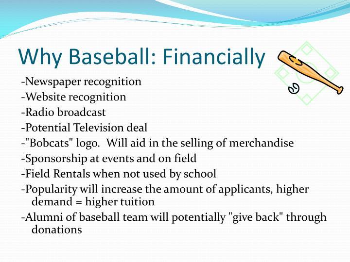Why Baseball: Financially