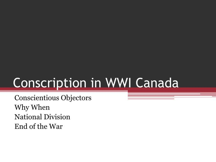 Conscription Essay