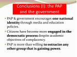conclusions i the pap and the government