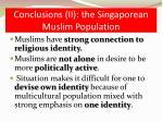 conclusions ii the singaporean muslim population