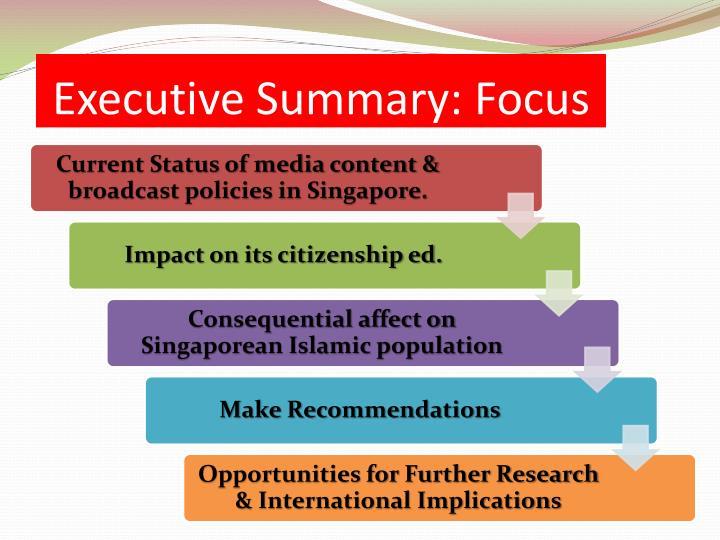 Executive Summary: Focus
