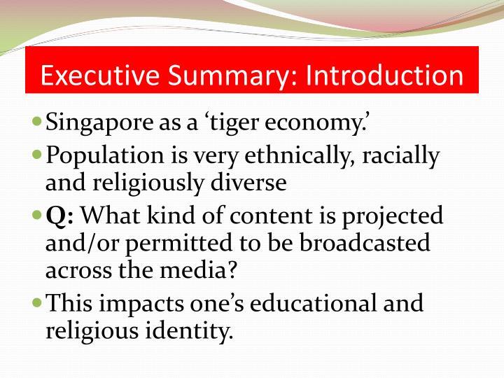 Executive Summary: Introduction
