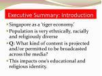 executive summary introduction