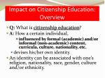 impact on citizenship education overview