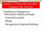impact on citizenship education singapore ii example