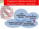 singapore s media content broadcast policies overview