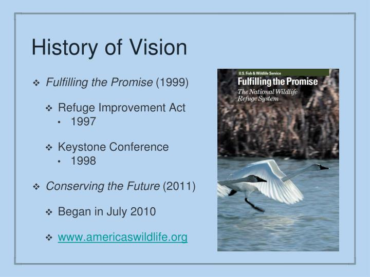 History of vision