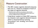 measure construction1