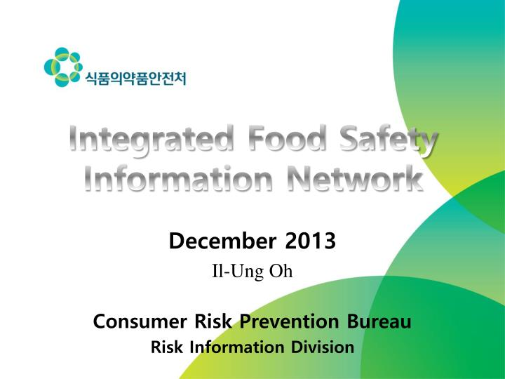 Integrated food safety information network