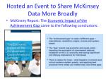 hosted an event to share mckinsey data more broadly