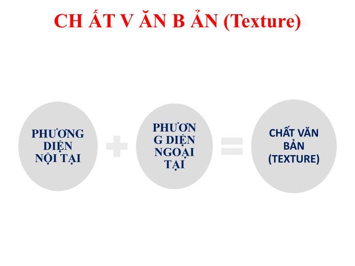 CH ẤT V ĂN B ẢN (Texture)