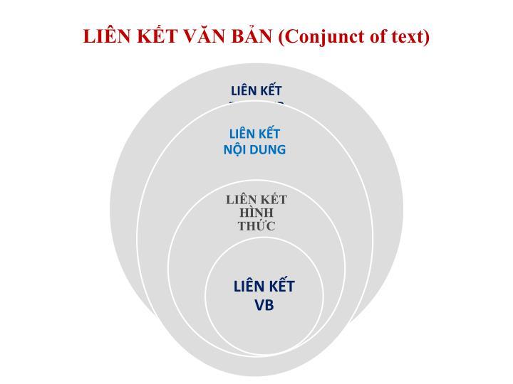 LIÊN KẾT VĂN BẢN (Conjunct of text)