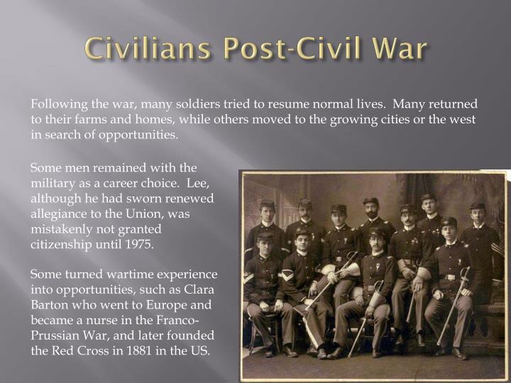 Civilians Post-Civil War