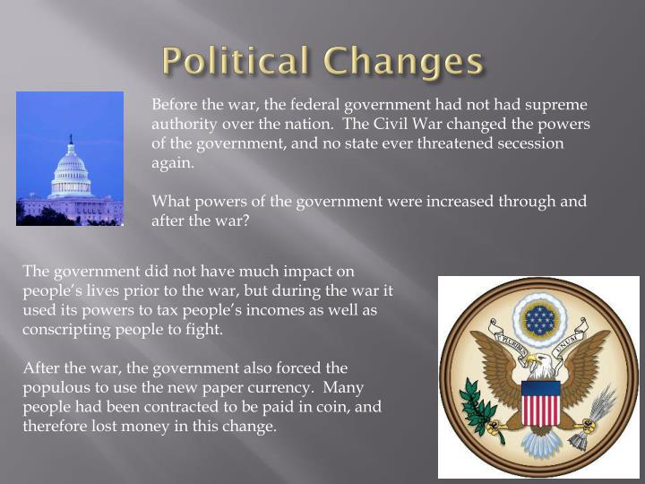 Political Changes