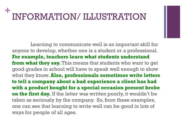 INFORMATION/ ILLUSTRATION