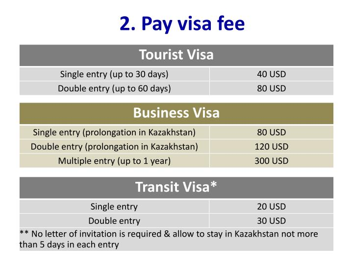 2. Pay visa fee