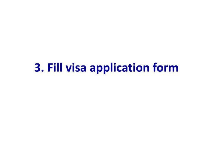 3. Fill visa application form