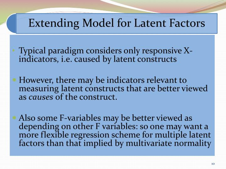 Typical paradigm considers only responsive X-indicators, i.e. caused by latent constructs