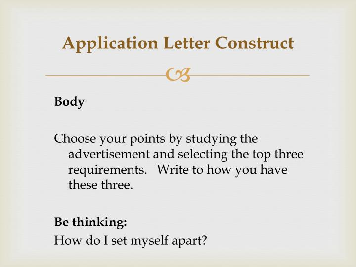 Application letter construct1