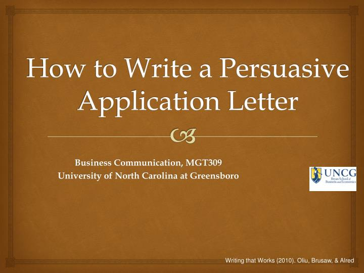 How to Write a Persuasive Application