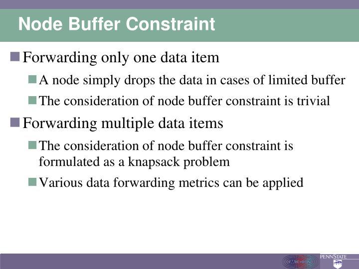 Node Buffer Constraint