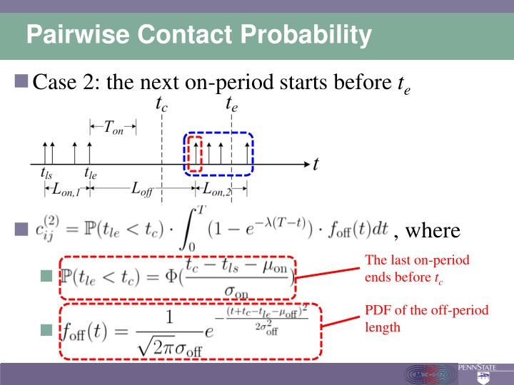 Pairwise Contact Probability