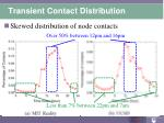 transient contact distribution